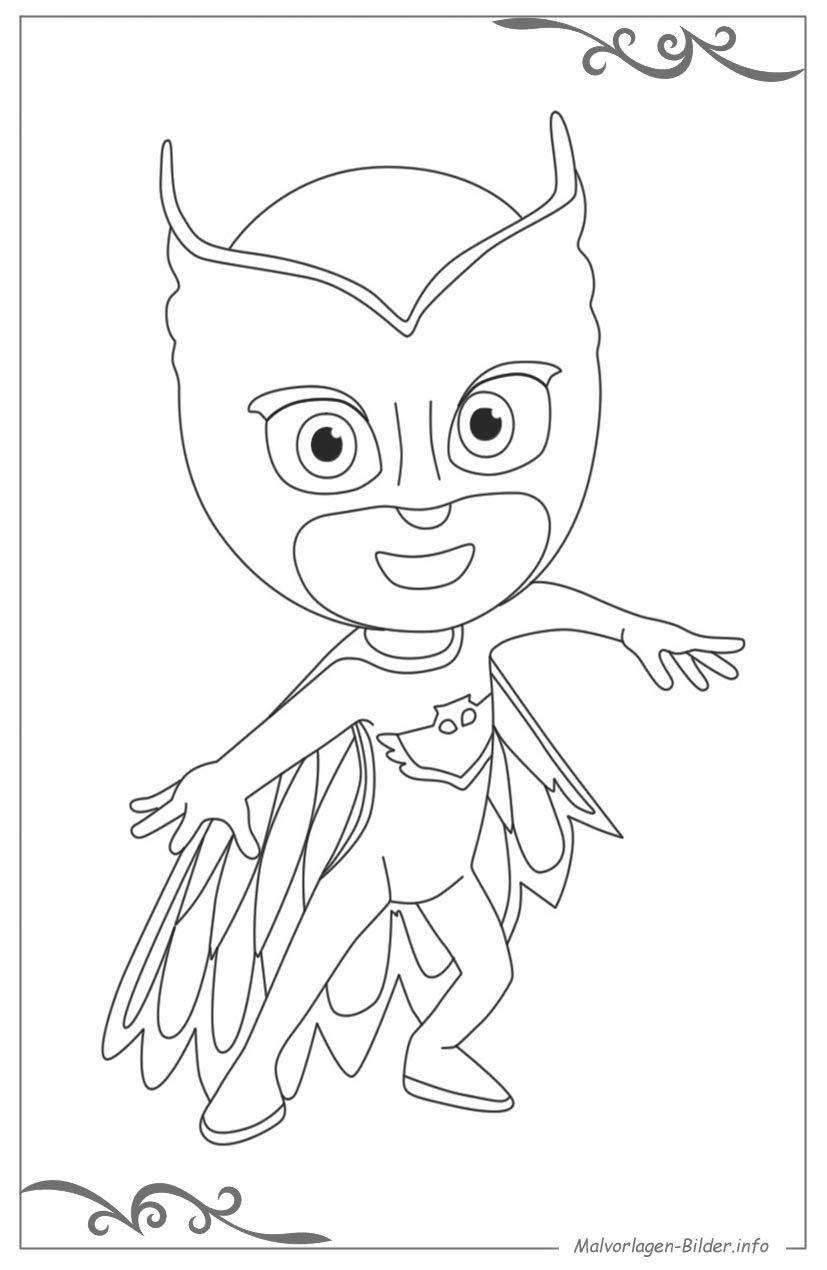 Pj Mask Ausmalbild Neu Ausmalbilder Pj Masks Inspirierend 12 Owlette Coloring Page Schön Pj Das Bild
