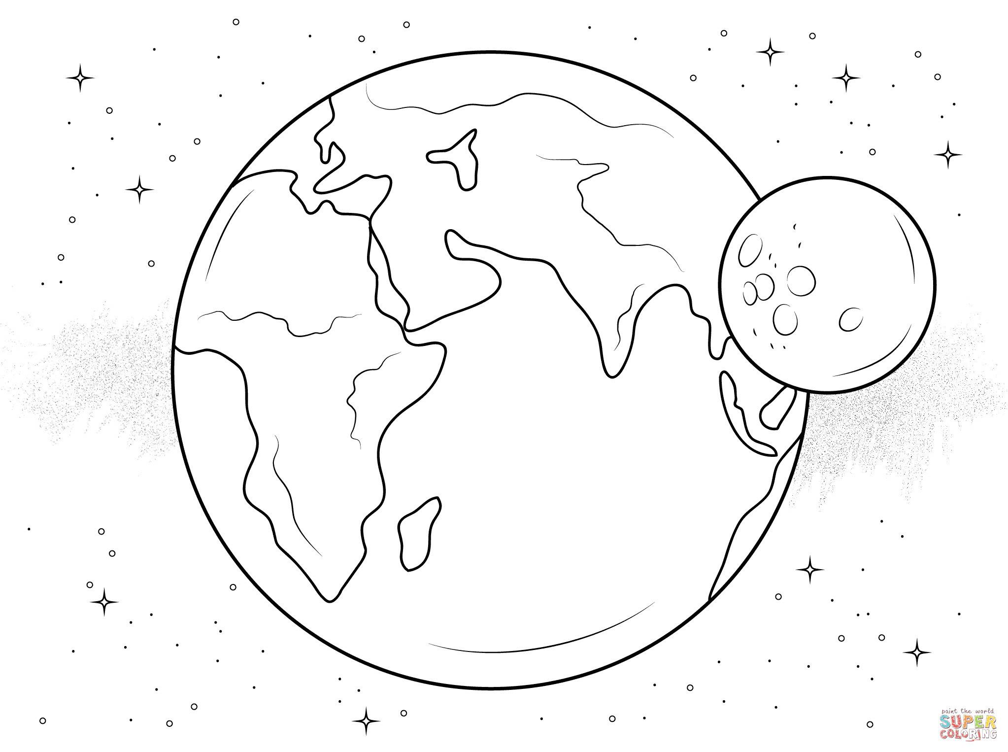 Planeten Und Sterne Ausmalbilder Inspirierend Ausmalbild Erde Und Mond Best Ausmalbilder Planeten Bilder