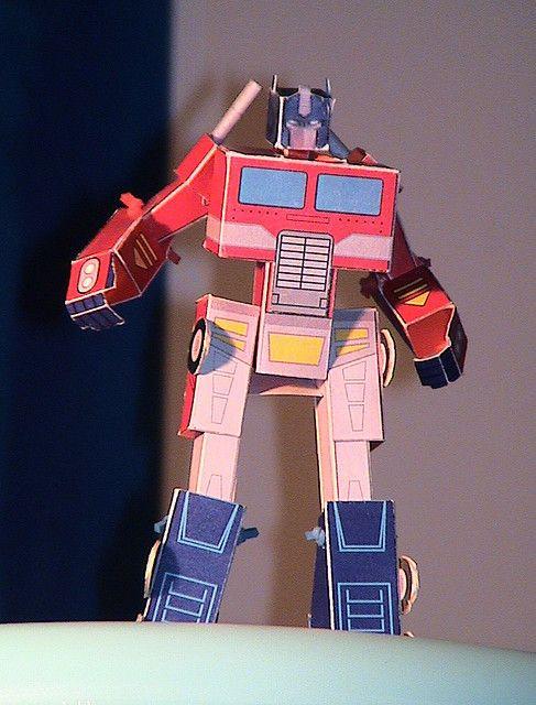 Rescue Bots Ausmalbilder Einzigartig Optimus Prime Model Paperrobot Robots Galerie