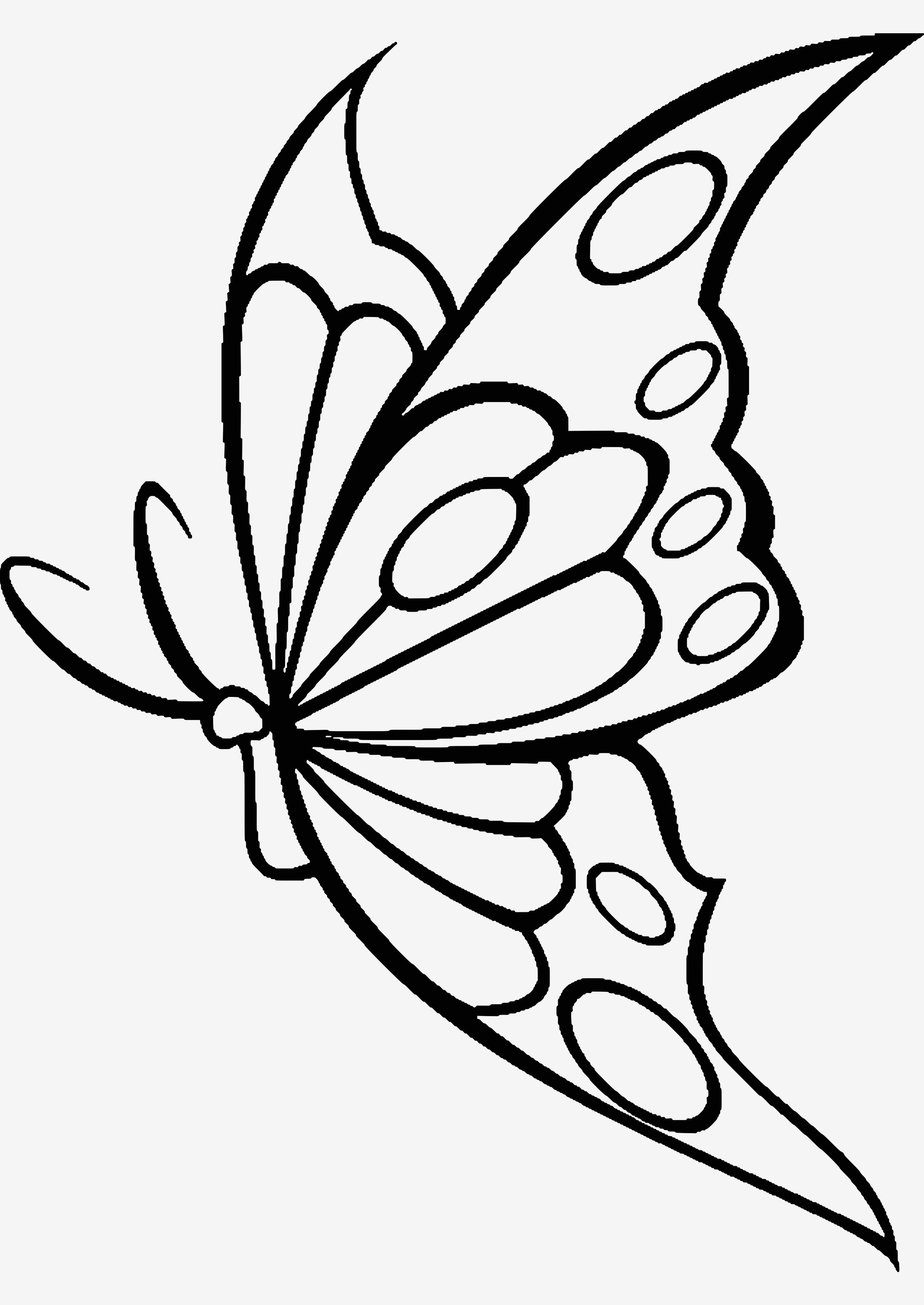 Verschiedene Bilder Färben Schmetterlingsbilder Zum Ausmalen