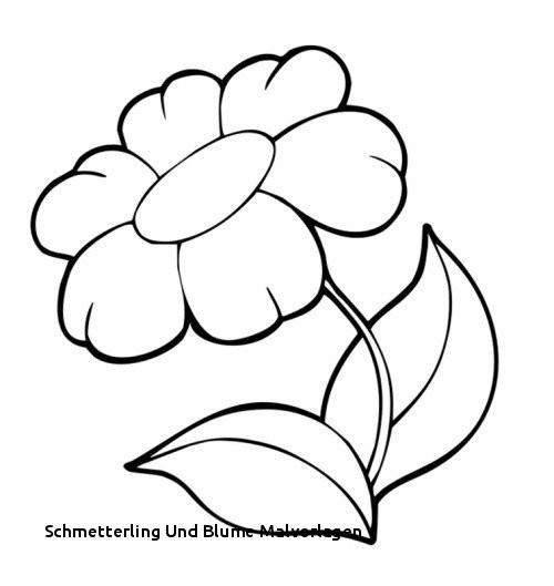 Schmetterling Mit Blume Zum Ausmalen Einzigartig Ausmalbilder Blumen Stock