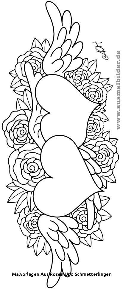 Schmetterling Mit Blume Zum Ausmalen Frisch Malvorlagen Aus Rosen Und Schmetterlingen Ausmalbilder Blumen Sammlung