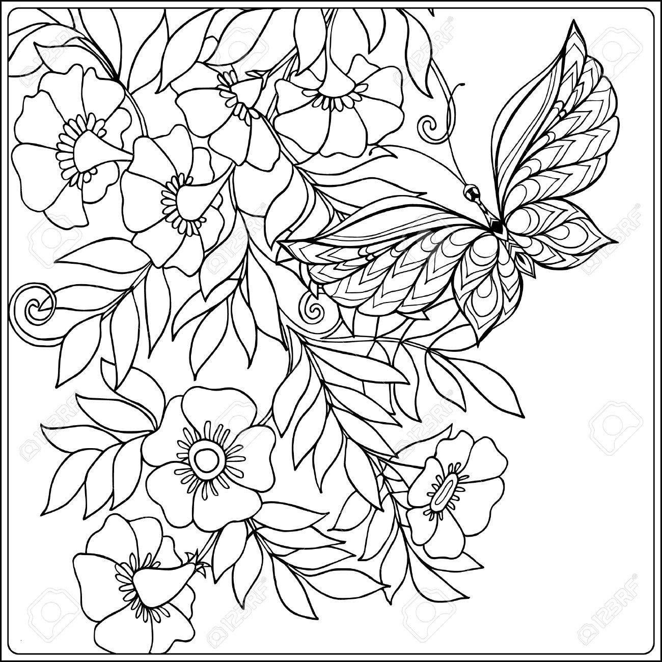 Schmetterling Mit Blume Zum Ausmalen Inspirierend 35 Malvorlagen Blumen Scoredatscore Elegant Ausmalbilder Fotografieren