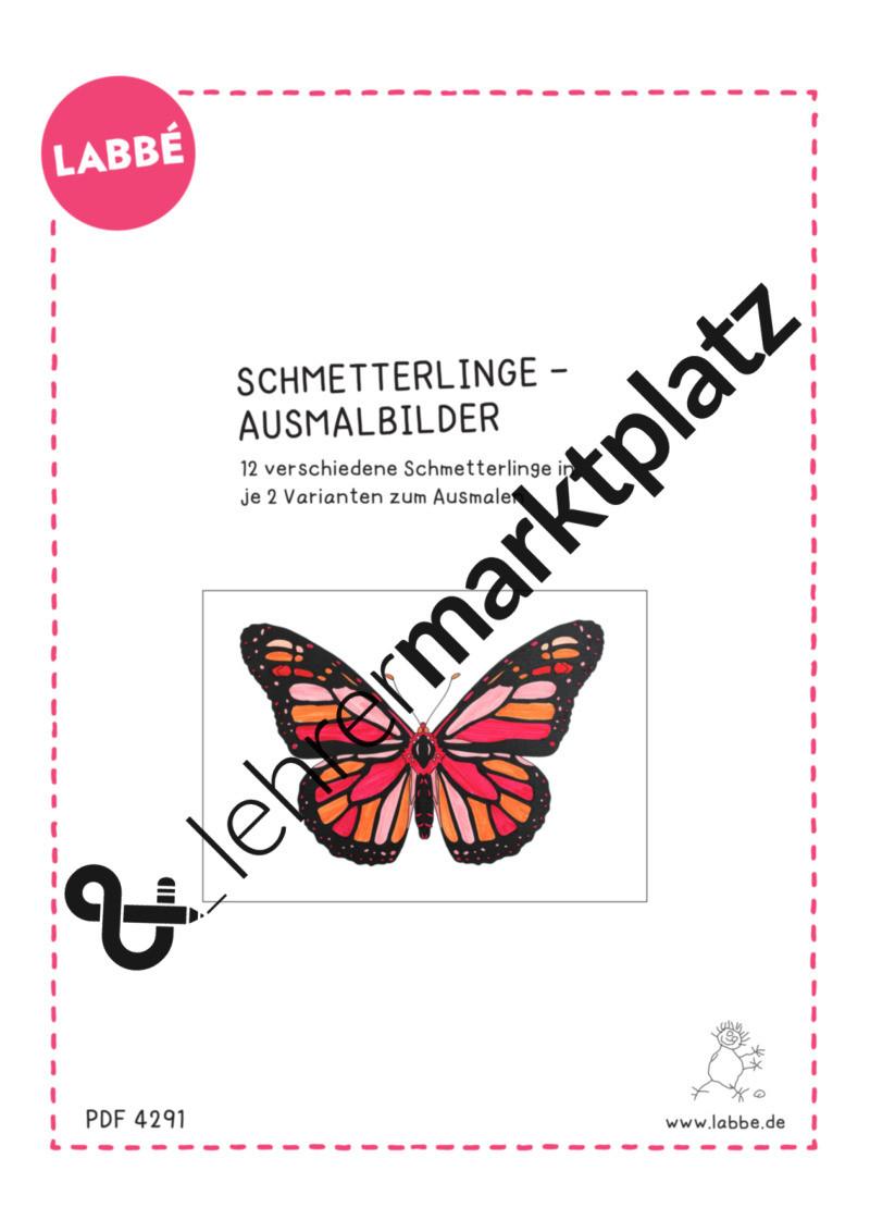 Schmetterlinge Bilder Zum Ausmalen Einzigartig Schmetterlinge Ausmalbilder – Biologie Kita Kunst Lehreralltag Bild