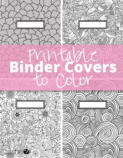 Schulsachen Zum Ausmalen Neu Printable Binder Covers to Color Free Download for Back to School Bild