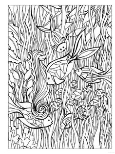 Seepferdchen Zum Ausmalen Neu Ocean Animal Coloring Pages Doodle Art Alley Coloring Stock