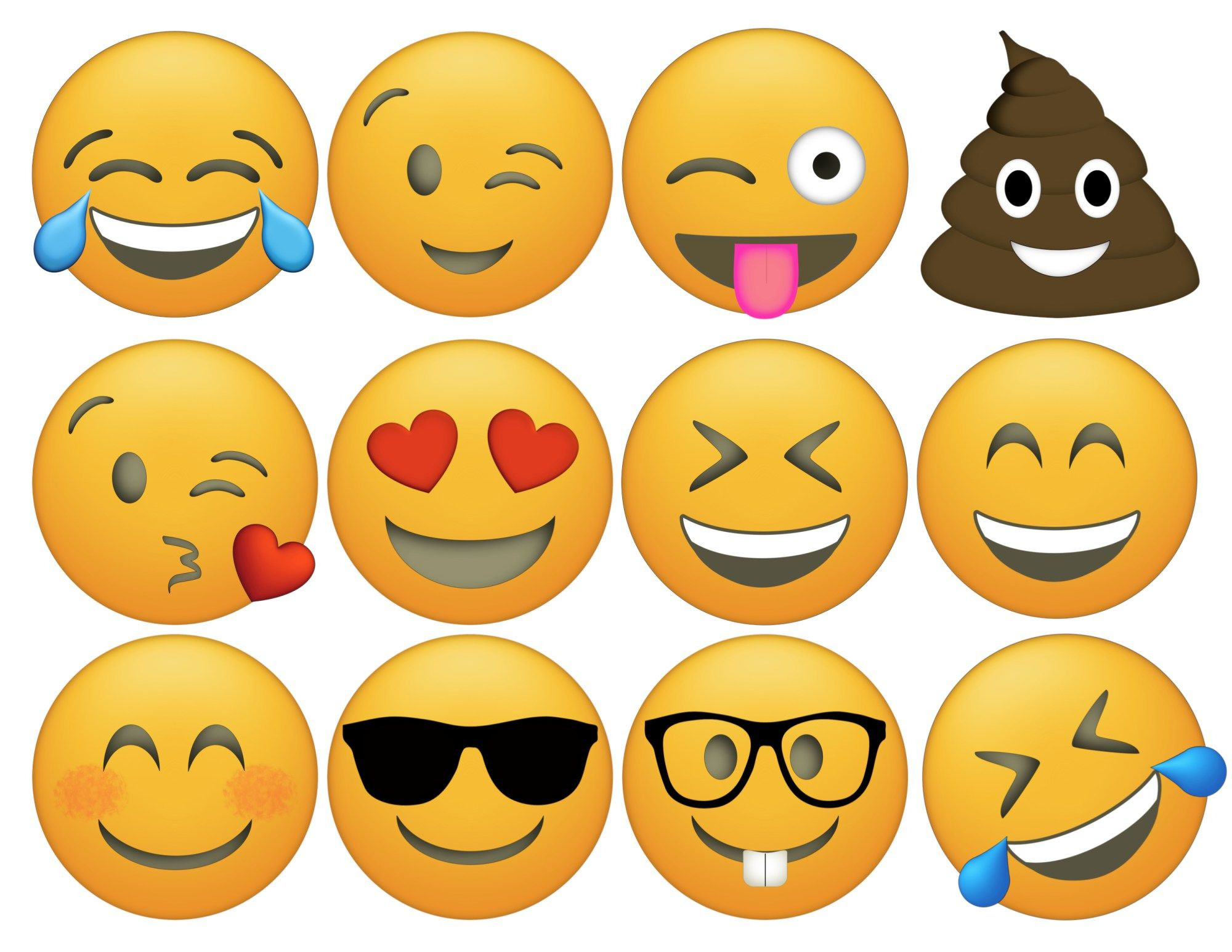 Smileys Zum Ausmalen Inspirierend Emoji Cupcake toppers Free Printable Pre School Printables Neu Fotos