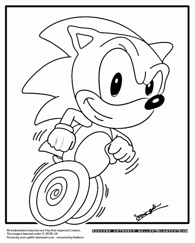 Sonic the Hedgehog Ausmalbilder Frisch sonic Coloring Page Printable Inspirational sonic Hedgehog Sammlung