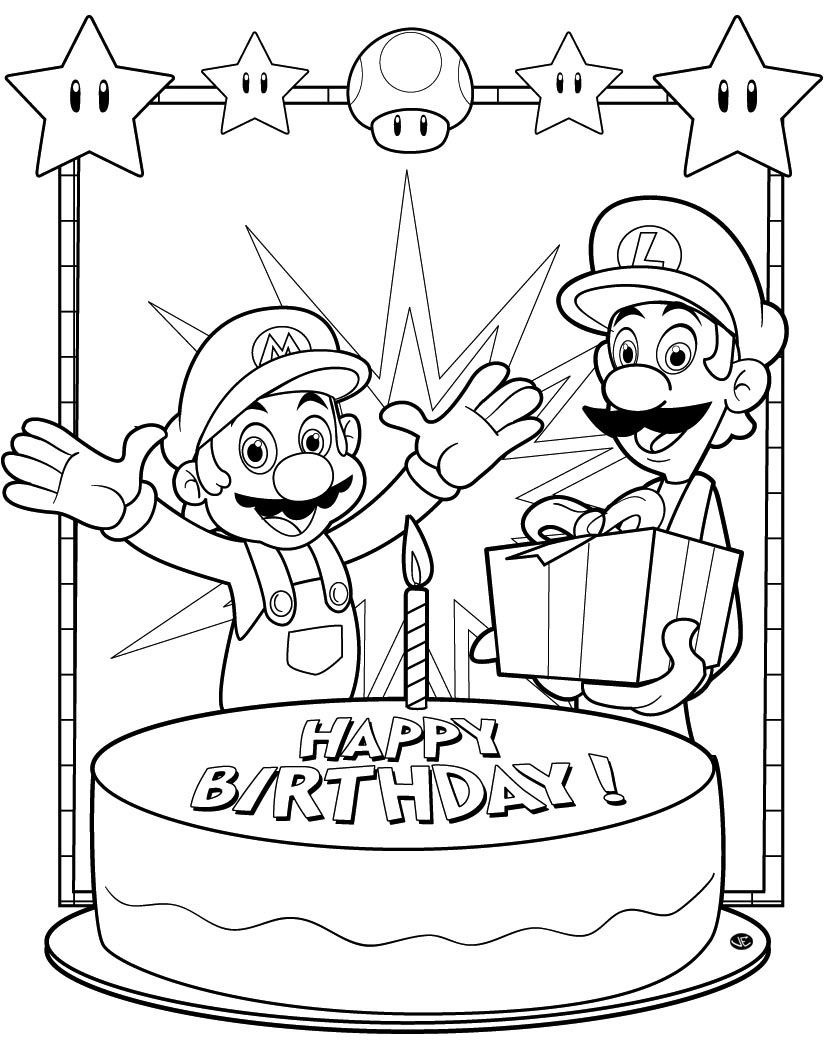 Sonic Zum Ausmalen Neu Jimbo S Coloring Pages Mario and Luigi Birthday Coloring Page Das Bild
