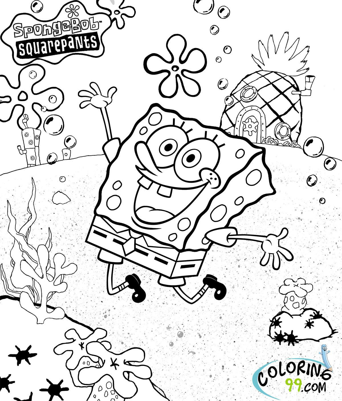 Spongebob Bilder Zum Ausmalen Frisch Spongebob Squarepants Coloring Pages Luxury Cool Coloring Page Luxus Stock