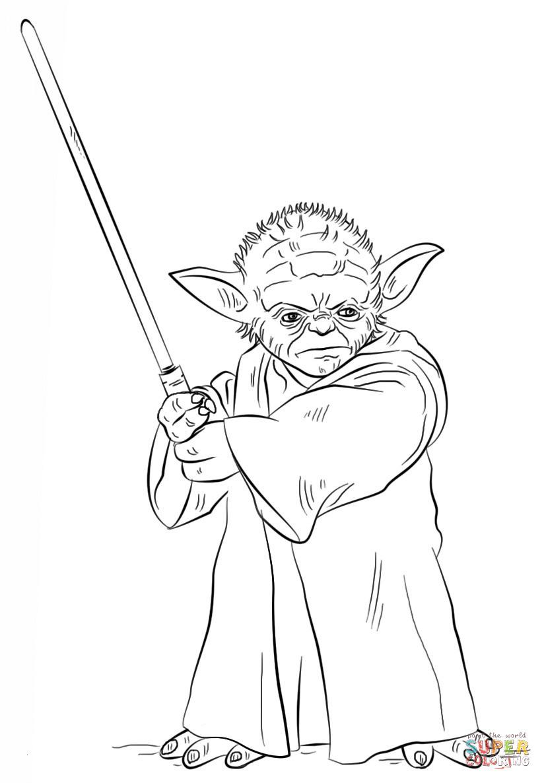 Star Wars Ausmalbilder Yoda Das Beste Von Yoda Ausmalbilder Einzigartig Ausmalbild Yoda Mit Lichtschwert Schön Sammlung