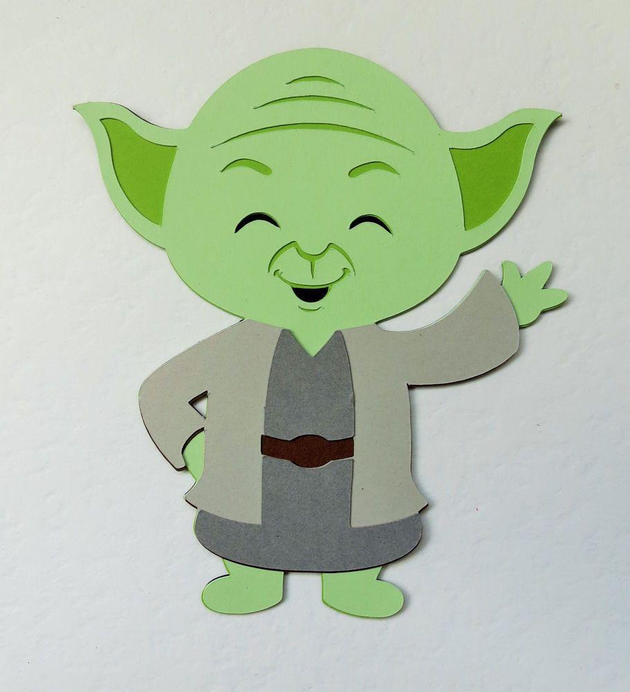 Star Wars Ausmalbilder Yoda Frisch Star Wars Yoda Paper Die Cut Scrapbook Embellishment Luxus Lego Star Stock