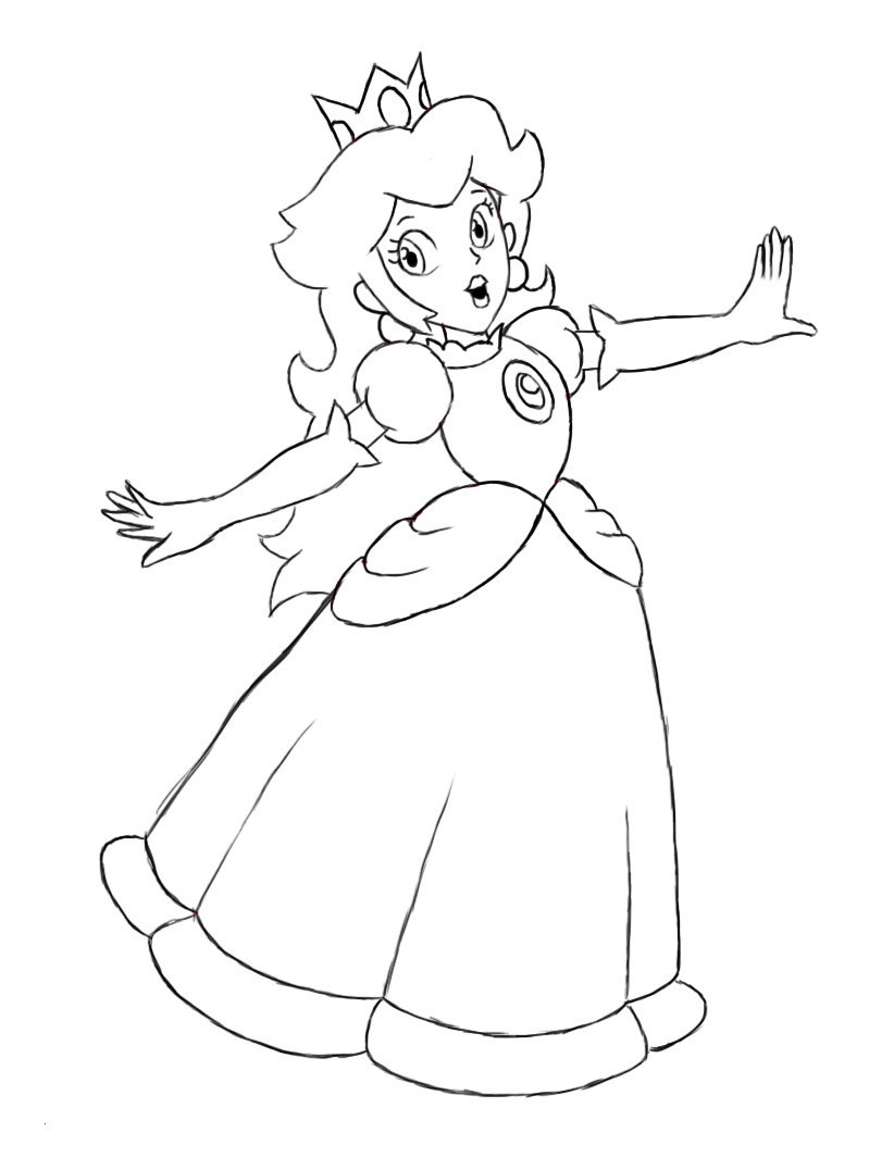 Super Mario Ausmalbilder Das Beste Von Princess Peach Coloring Pages New Charming Image Super Mario Galerie