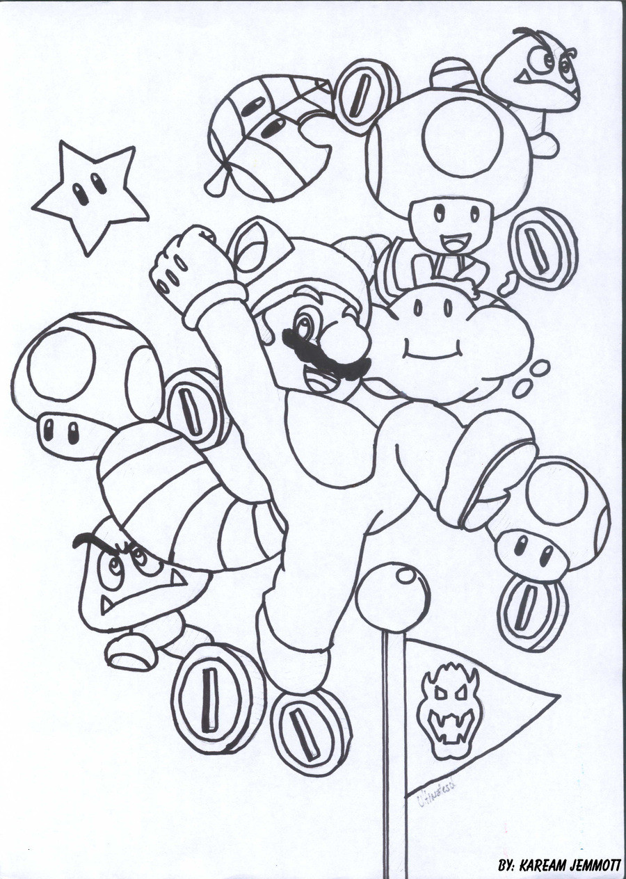 Super Mario Malvorlage Einzigartig Ausmalbilder Mario Schön Super Mario Coloring Pages Luxury Großzügig Fotos