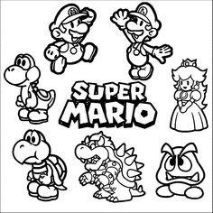 Super Mario Malvorlage Genial Mario Ausmalbilder 04 Mario Und Luigi Pinterest Das Bild