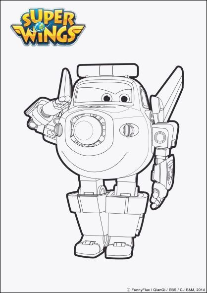 Super Wings Coloring Pages Frisch Ausmalbilder Super Wings Sammlung
