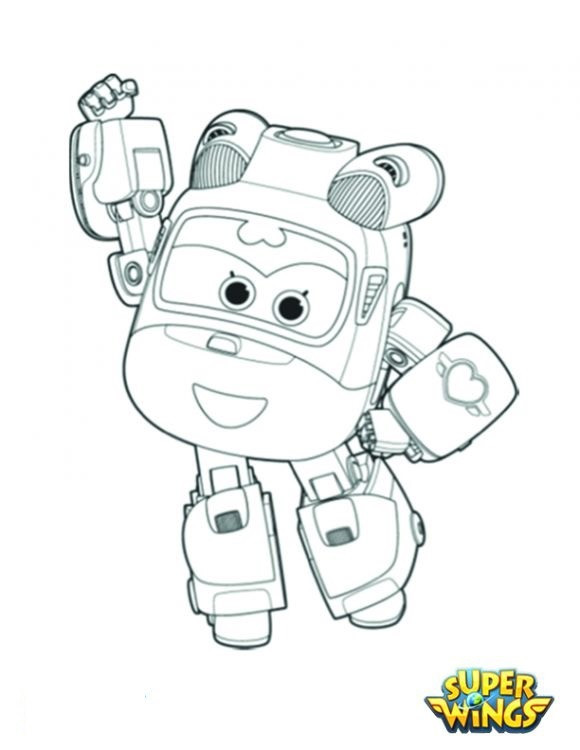 Super Wings Coloring Pages Frisch Sprout Super Wings Coloring Pages Das Bild