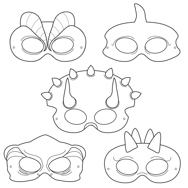 T Rex Malvorlage Inspirierend Dinosaurs Printable Coloring Masks Dinosaur Masks Triceratops Mask Bild