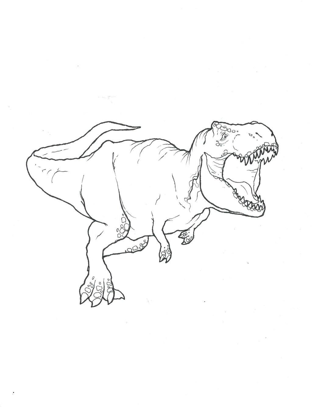 malvorlagen dinosaurier trex  malvorlagen