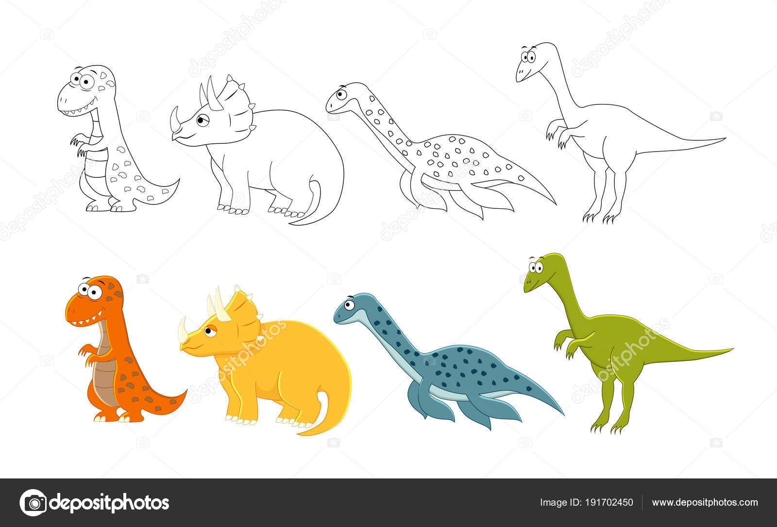 T Rex Malvorlage Neu Tyrannosaurus Rex Ausmalbilder Inspirierend Cartoon Dinosaurier Satz Sammlung