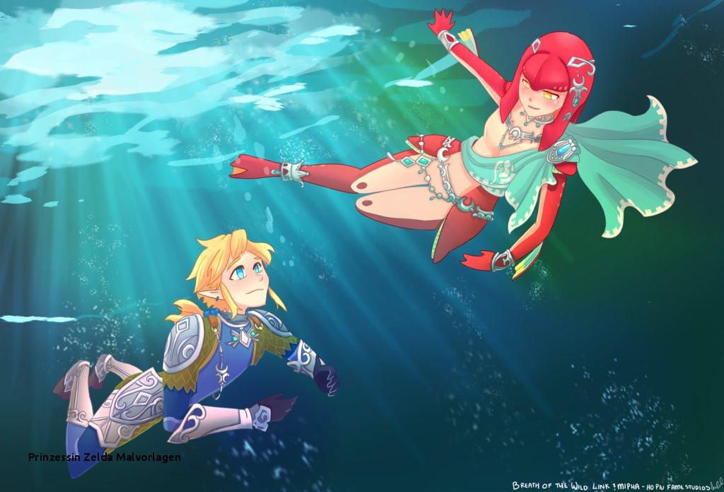 The Legend Of Zelda Ausmalbilder Das Beste Von Prinzessin Zelda Malvorlagen Link and Mipha Breath the Wild by Fotos
