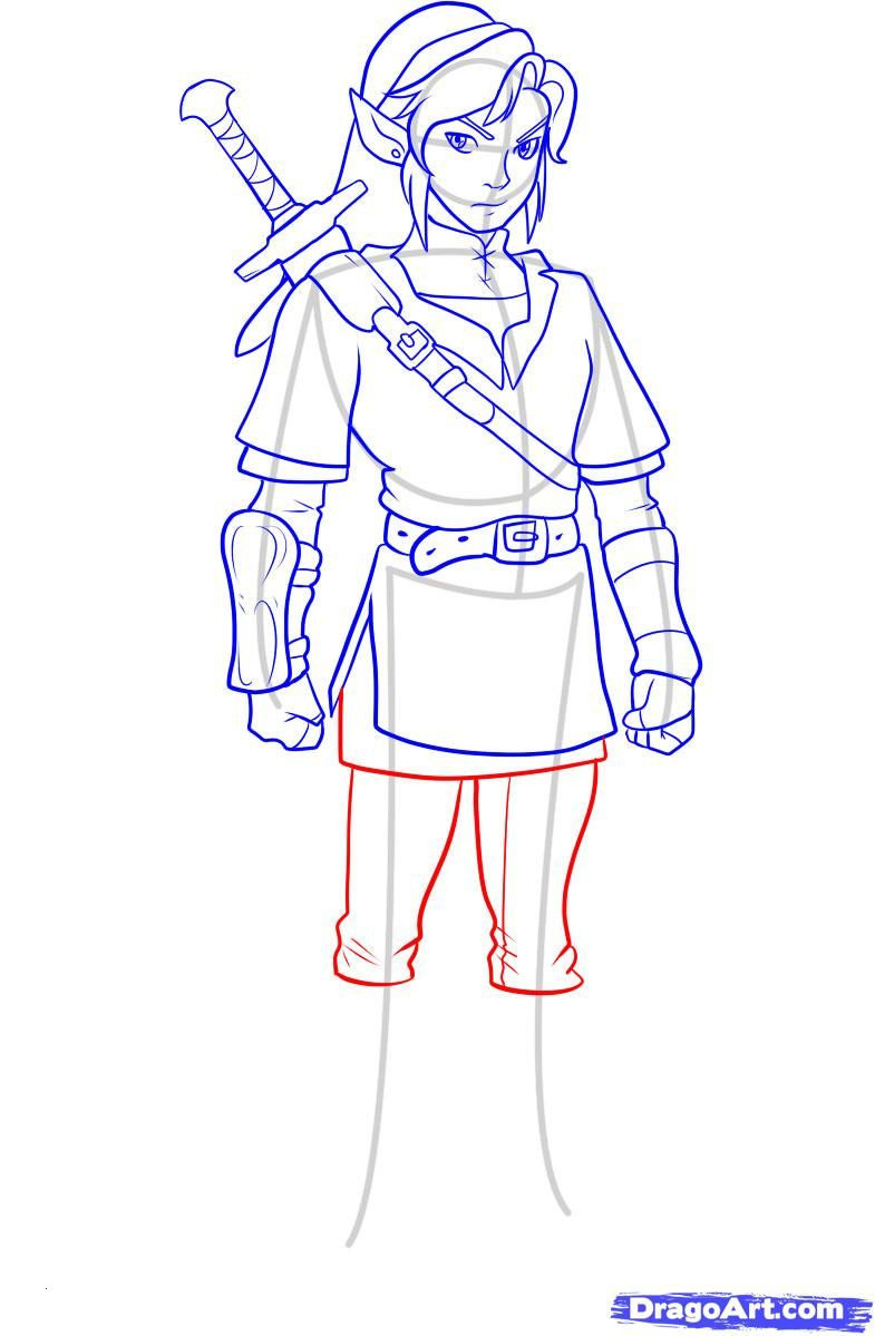The Legend Of Zelda Ausmalbilder Das Beste Von Step 9 How to Draw Link From Zelda Zelda Schön Zelda Malvorlagen Sammlung
