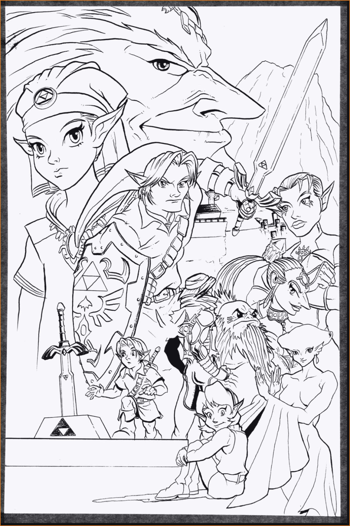 The Legend Of Zelda Ausmalbilder Neu Zelda Coloring Pages Zelda Coloring Pages Unique 41 Prinzessin Zelda Galerie