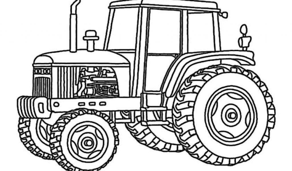 Раскраска про тракторы и прицепы