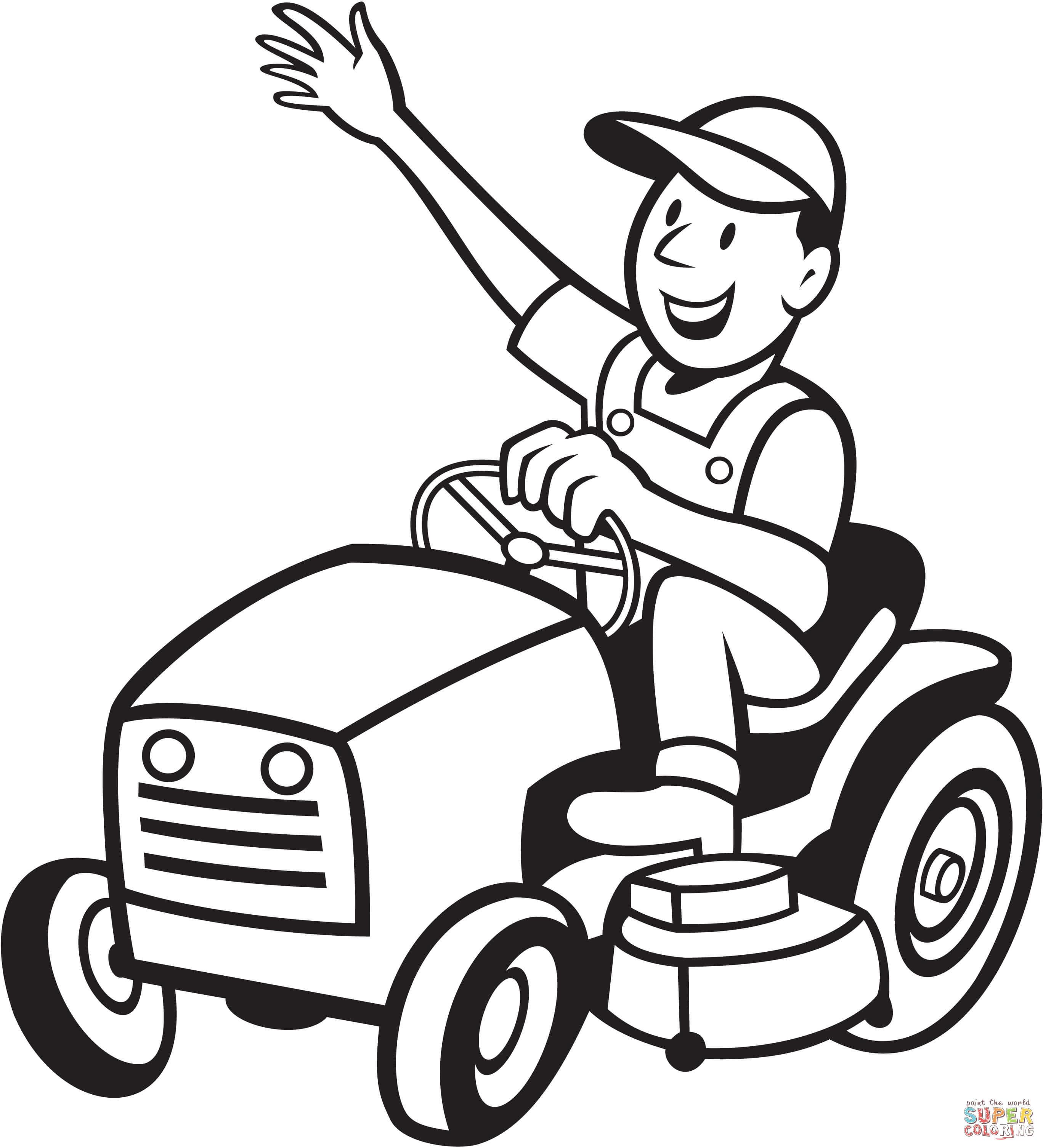 Traktor Ausmalbilder John Deere Das Beste Von Ausmalbild Bauer Fährt Einen Traktor Mäher Stock