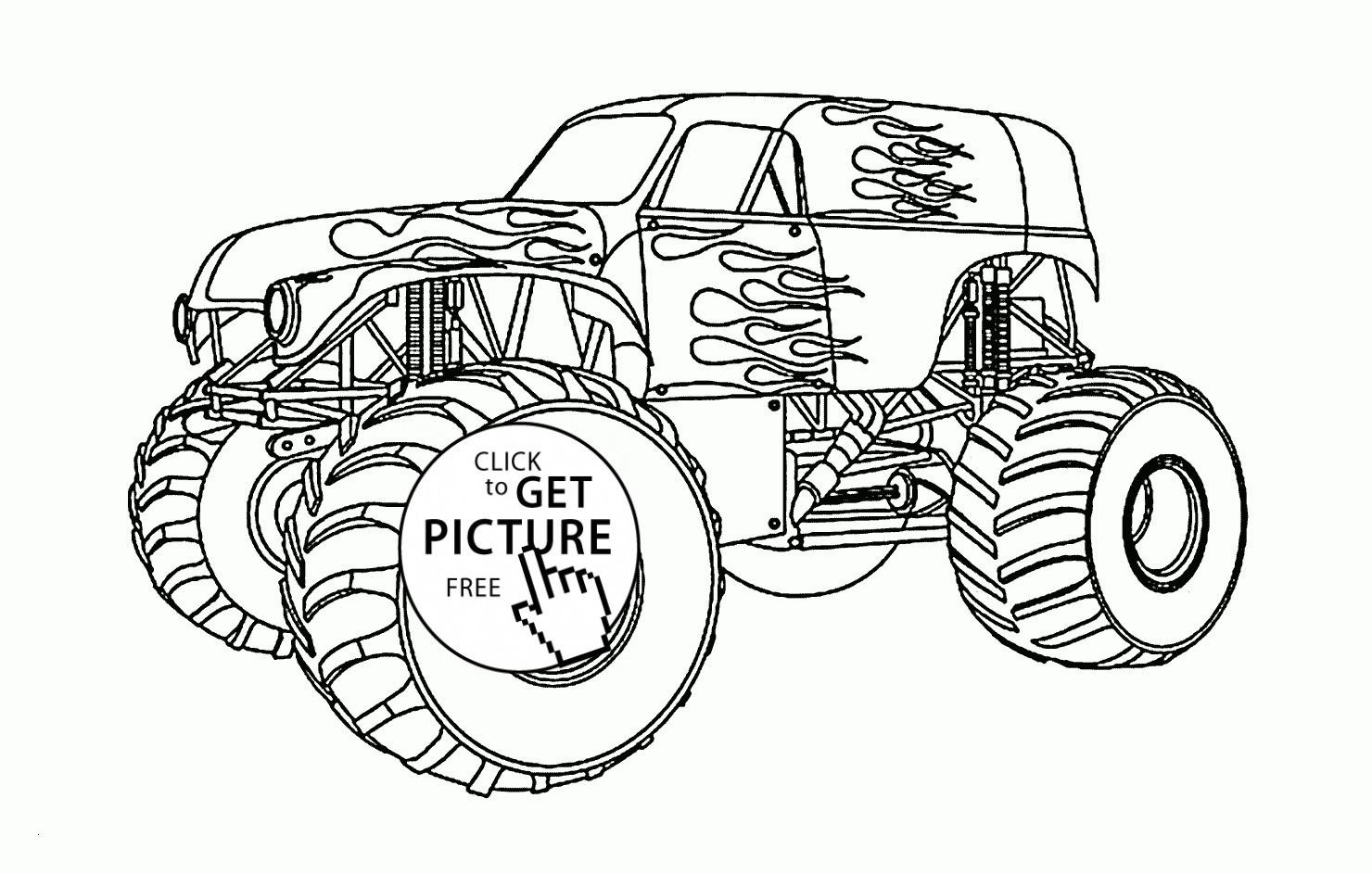 Trecker Zum Ausmalen Einzigartig 30 Monstertruck Ausmalbilder forstergallery Das Bild