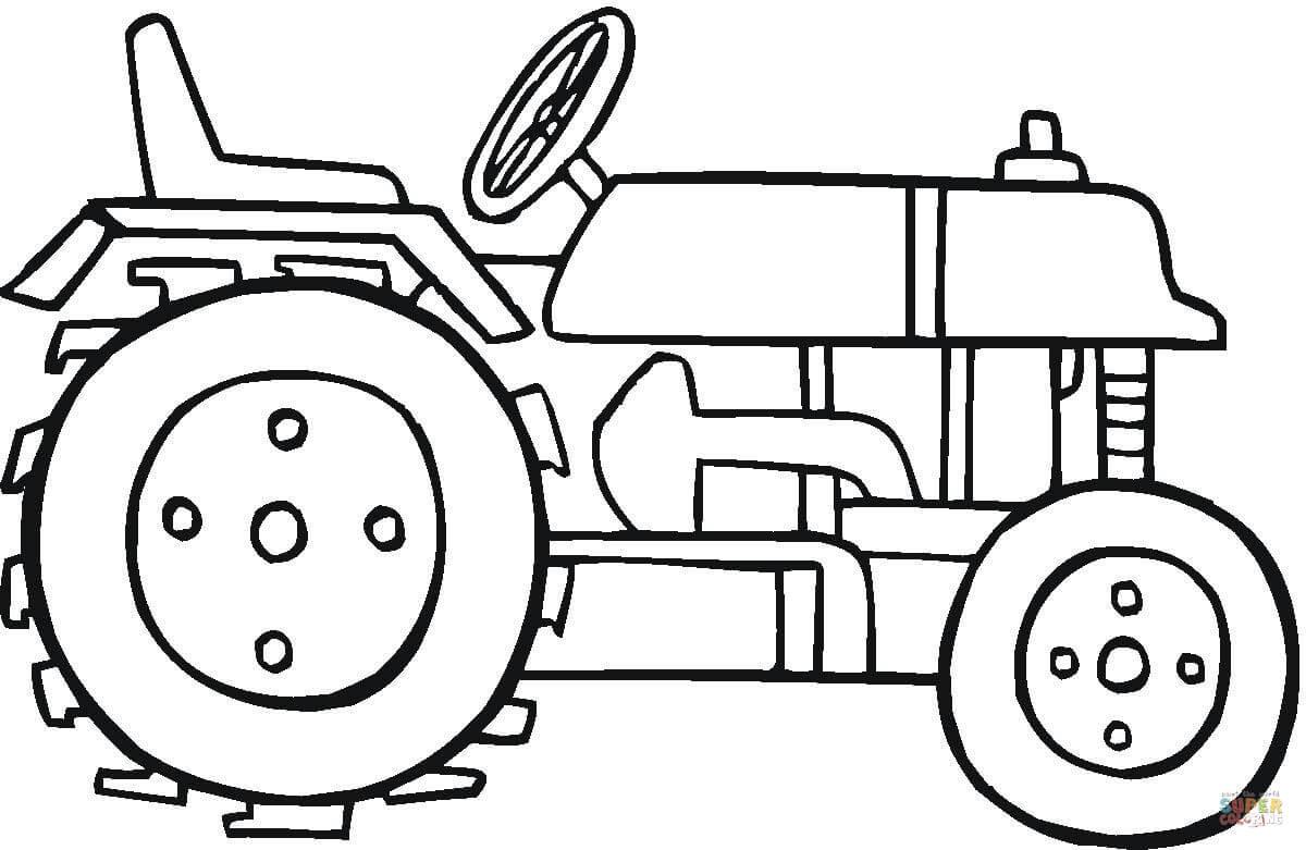 Trecker Zum Ausmalen Inspirierend Ausmalbild Moderner Traktor Fotos