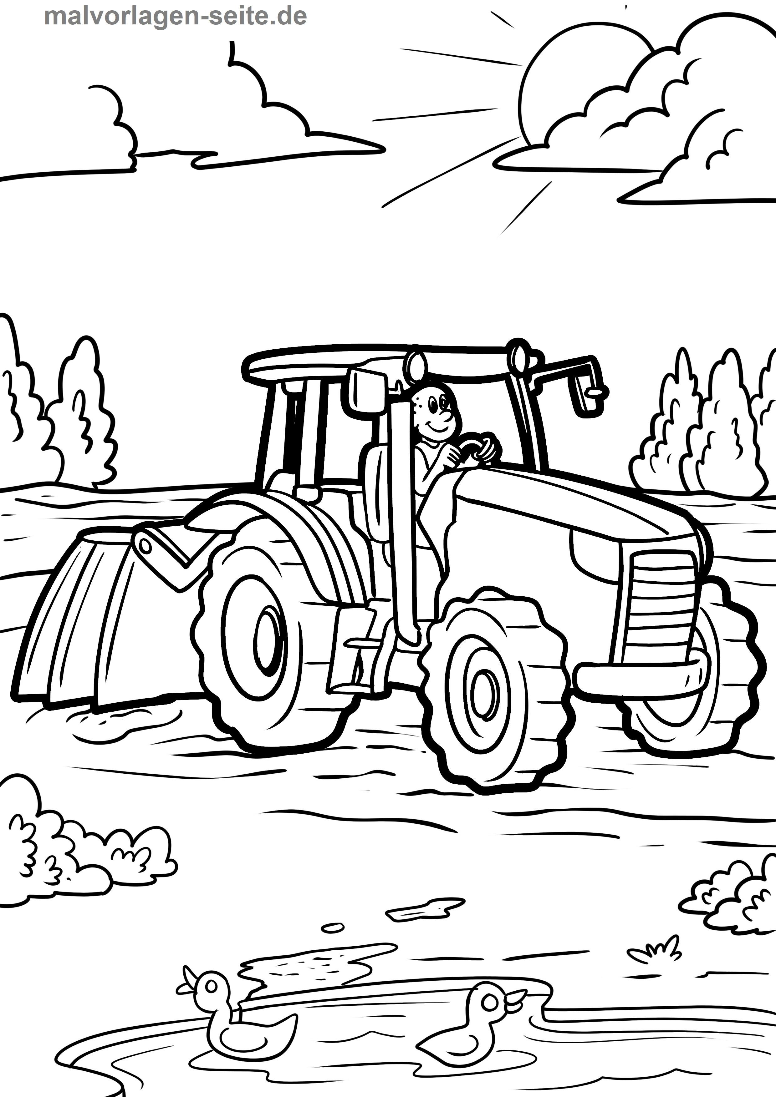 Malvorlage Bauernhof Feld Pflug
