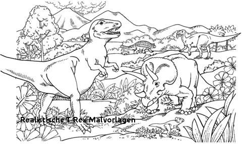 Realistische T Rex Malvorlagen