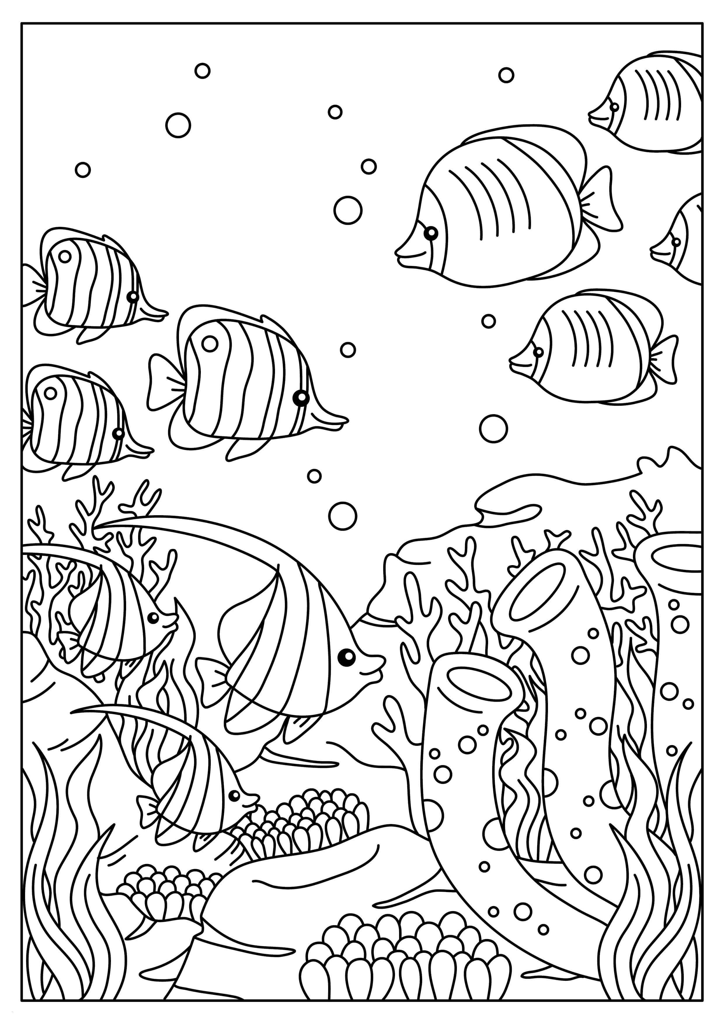 Unterwasserwelt Zum Ausmalen Frisch 35 Malvorlagen Unterwassertiere Scoredatscore Schön Unterwasserwelt Das Bild