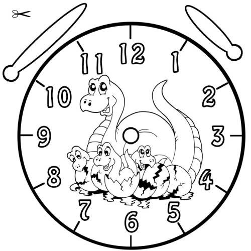 Verkehrserziehung Kindergarten Ausmalbilder Inspirierend Kostenlose Malvorlage Uhrzeit Lernen Ausmalbild Dinos Zum Ausmalen Bild