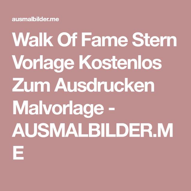 Walk Of Fame Stern Vorlage Neu Walk Fame Stern Vorlage Kostenlos Zum Ausdrucken Malvorlage Stock