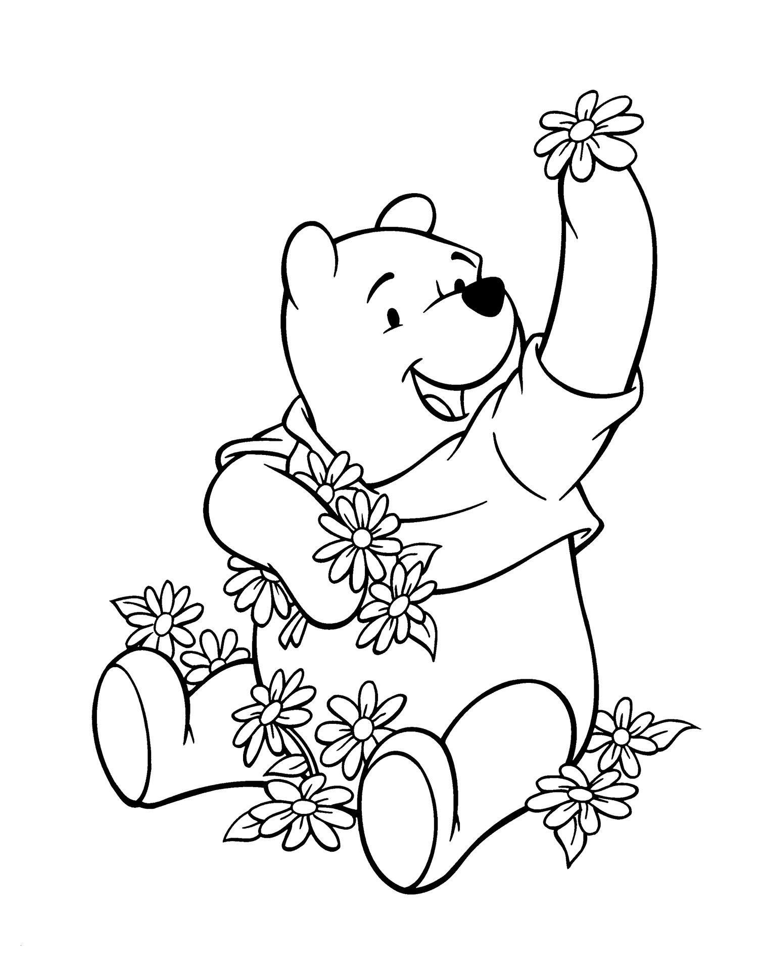 Winnie Pooh Baby Malvorlagen Einzigartig Winnie the Pooh and the Many Flowers Coloring Page Luxus Winnie Pooh Das Bild