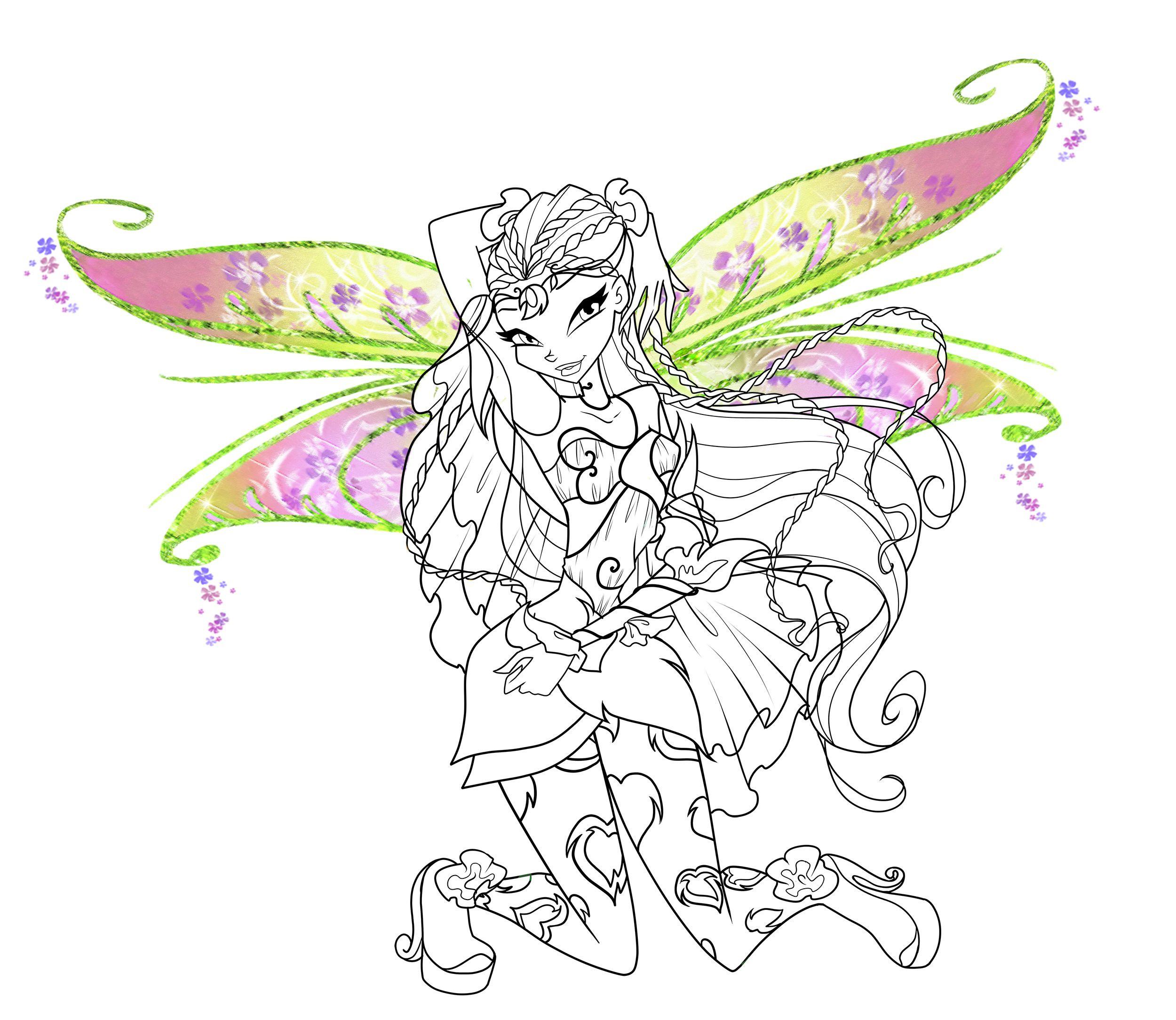 Winx Club Ausmalbilder Das Beste Von Winx Club Bloom Enchantix Coloring Pages Coloring Pages Coloring Neu Stock
