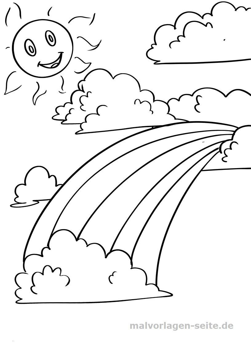 Wolke Zum Ausmalen Inspirierend Ausmalbilder Wolke Inspirierend Malvorlage Regenbogen sonne Wolken Galerie