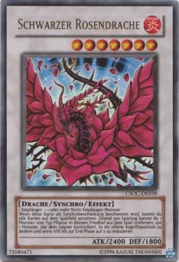 Yugioh Karten Drachen Frisch Schwarzer Rosendrache Yu Gi Oh Sammlung