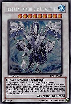 Yugioh Karten Drachen Genial Trishula Drache Der Eisbarriere Yu Gi Oh Bild