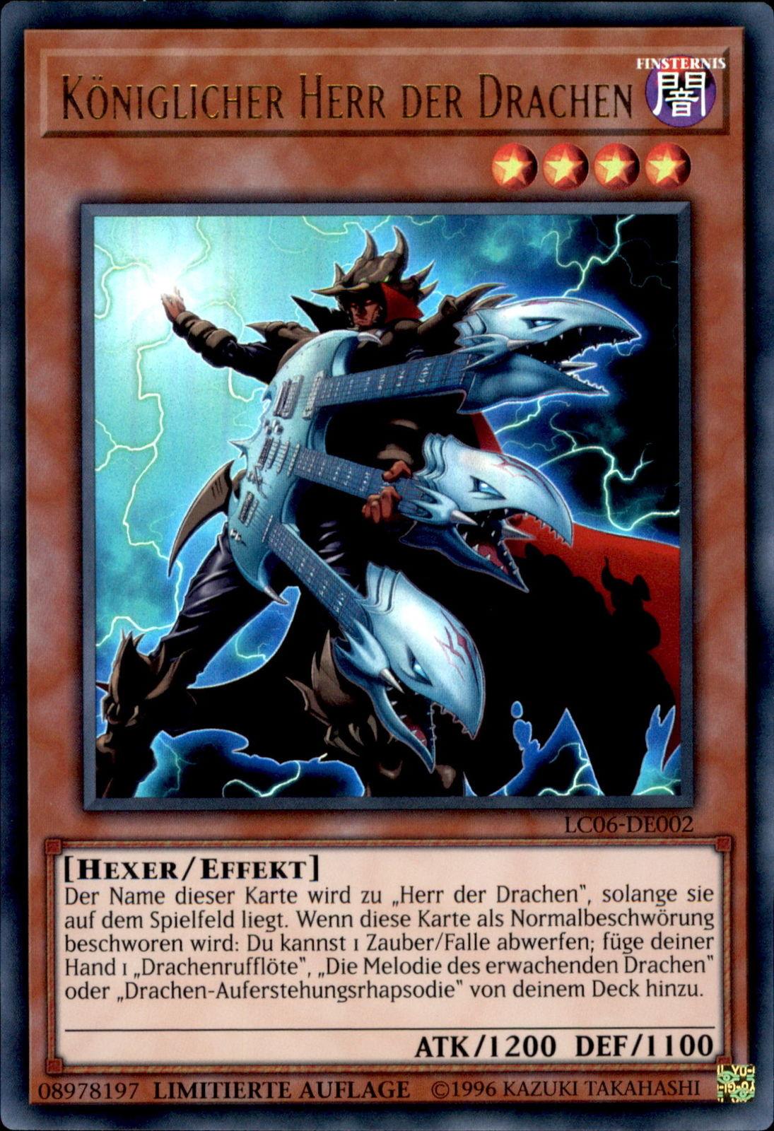 Yugioh Karten Drachen Neu Yugioh Lc06 De002 König Der Drachen 1 Auflage Eur 1 00 Bild