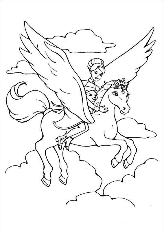 Ausmalbilder Barbie Pferd Frisch Ausmalbild Einhorn Mit Fee 01 Stock