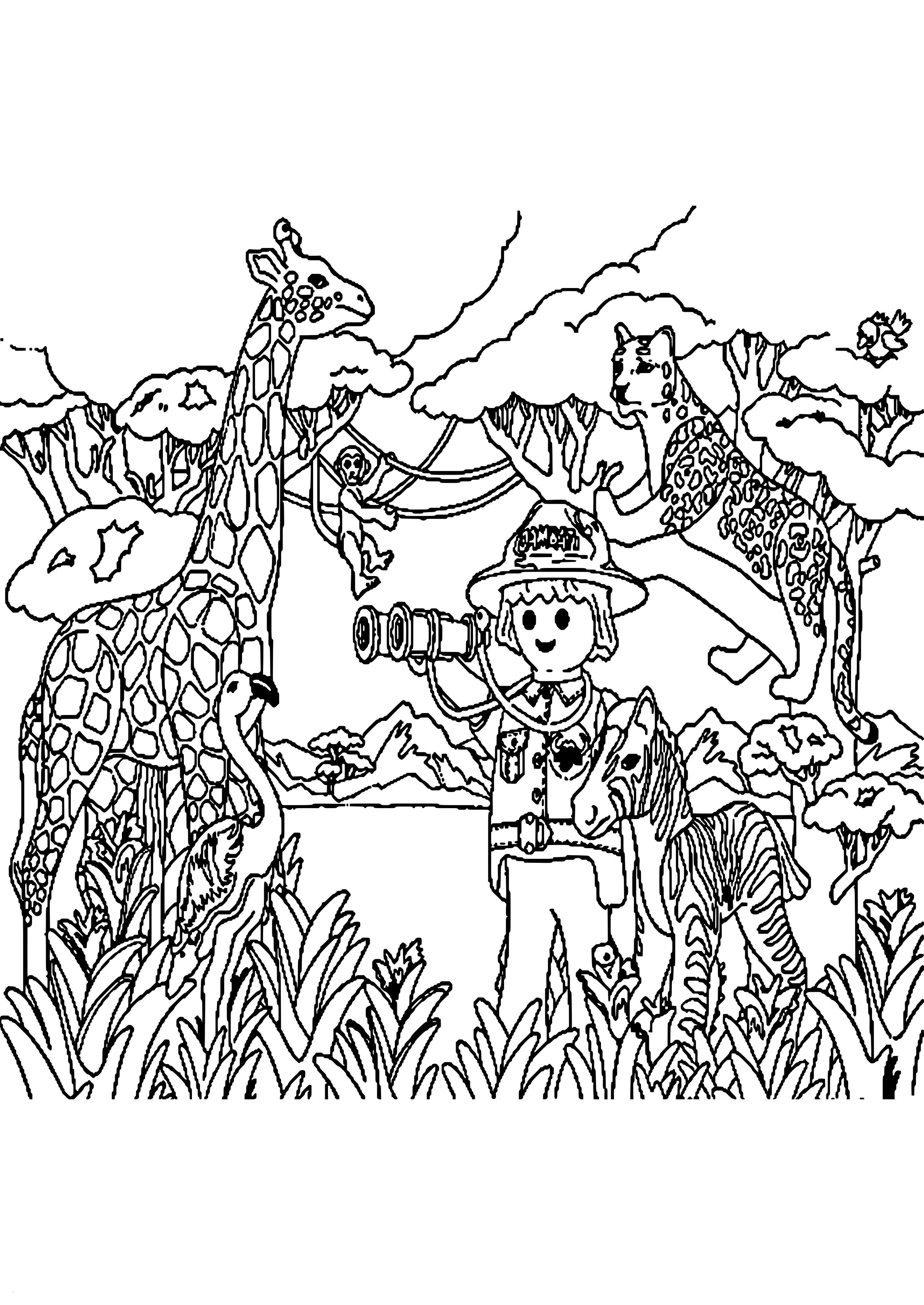 Ausmalbilder Tiere Im Dschungel Neu Para Colorear Malvorlagen Clash Clans Wiki Design Stock
