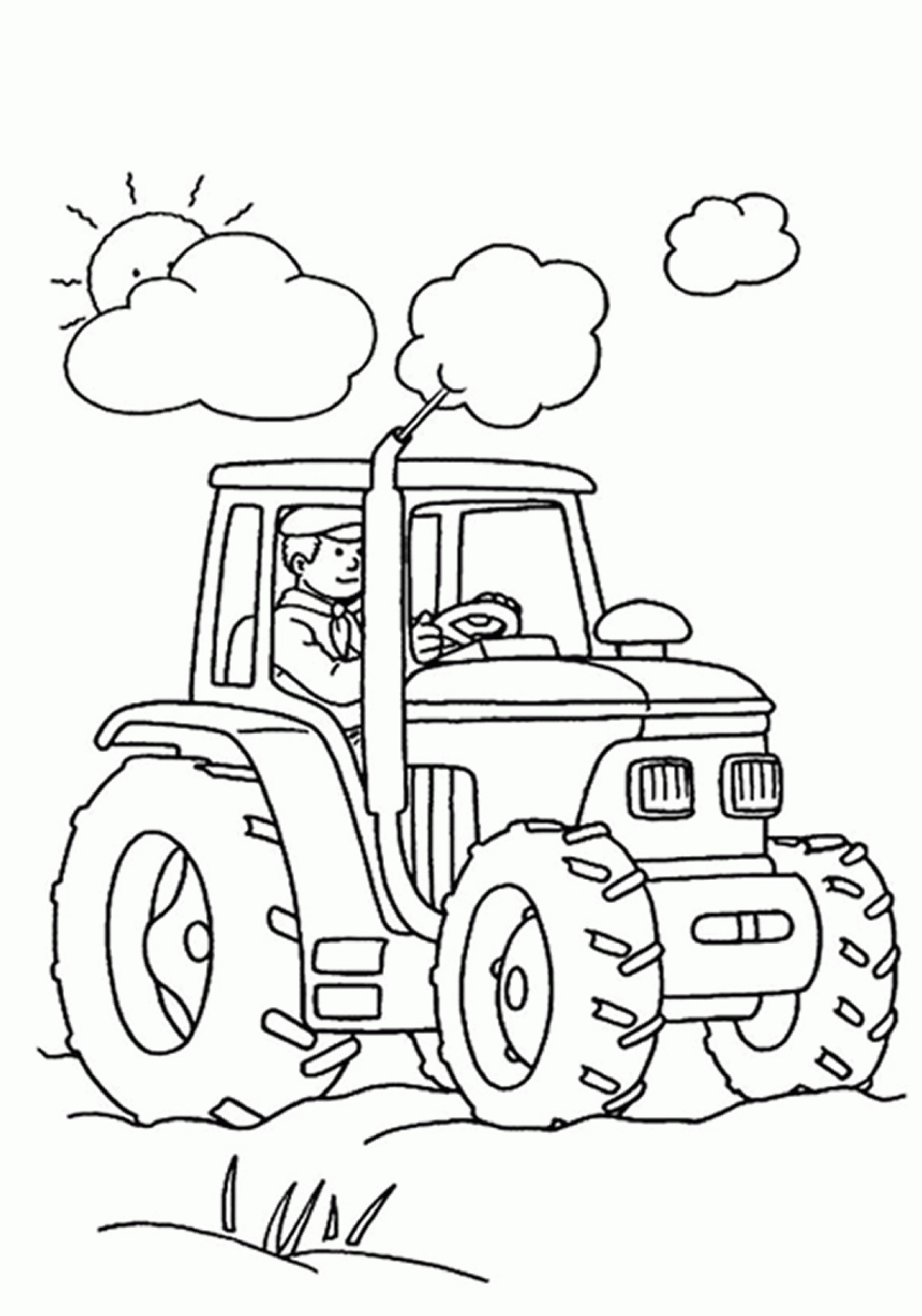 John Deere Ausmalbilder Das Beste Von Free Printable Tractor Coloring Pages for Kids Stock