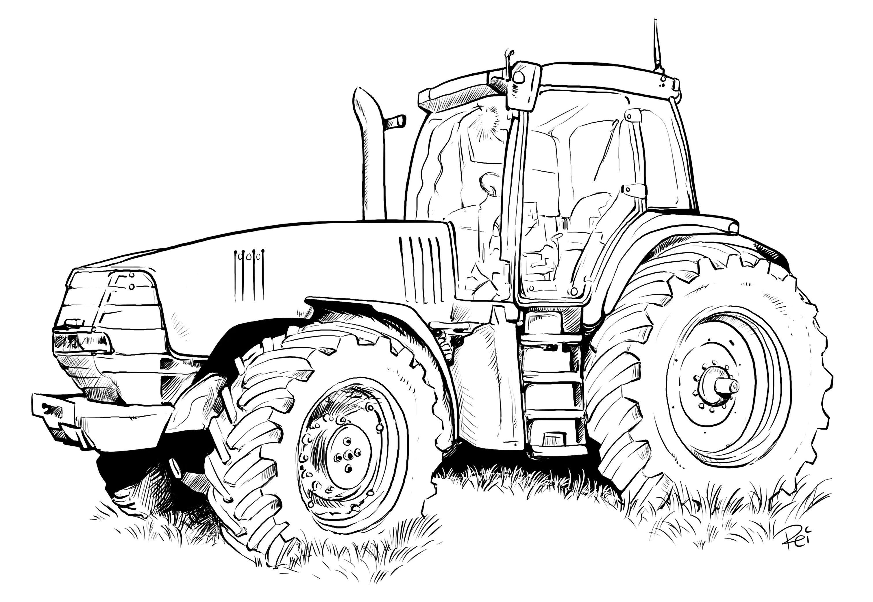 John Deere Ausmalbilder Neu Traktoren Bilder Zum Ausmalen Bauernhof Bild