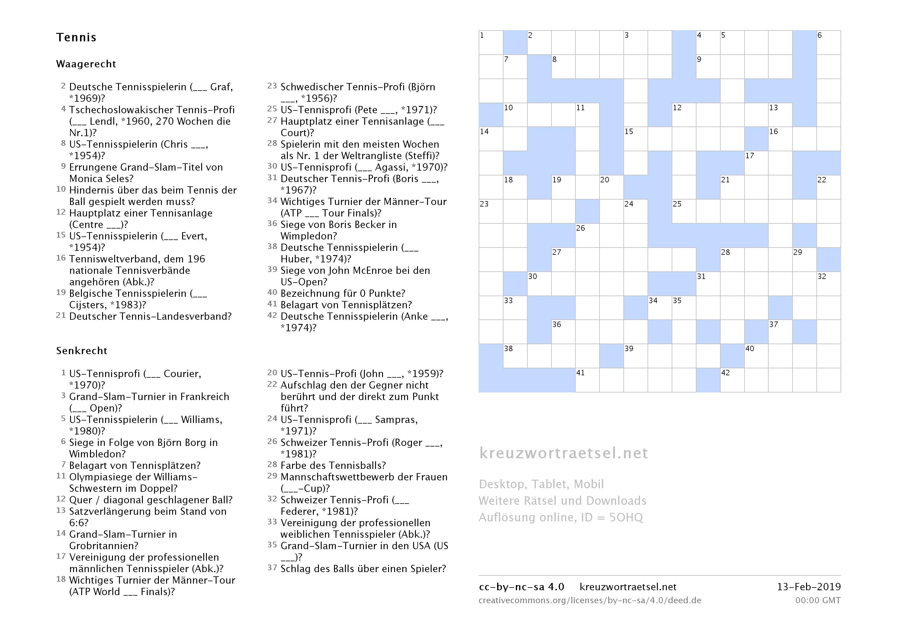 Wortsuchrätsel Zum Ausdrucken Frisch Kreuzworträtsel Tennis Kreuzworträtsel Sammlung