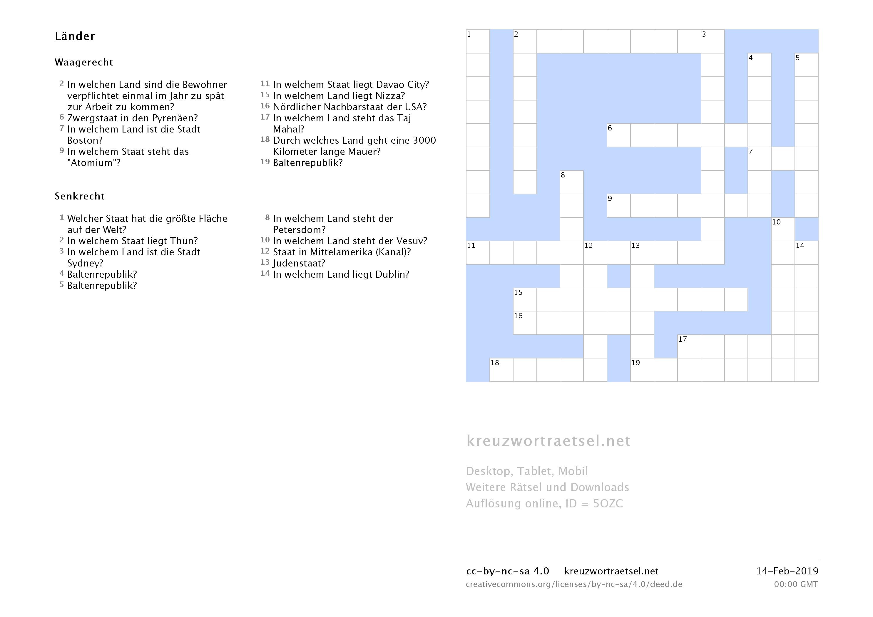 Wortsuchrätsel Zum Ausdrucken Frisch Kreuzworträtsel Zum Ausdrucken Kreuzworträtsel Fotos