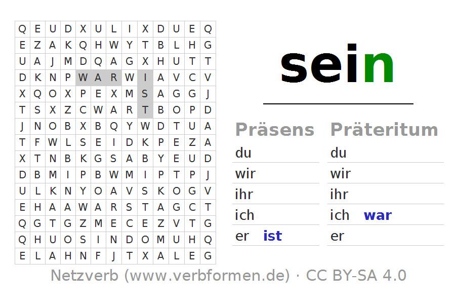 Wortsuchrätsel Zum Ausdrucken Frisch Wortsuchrätsel Für Konjugation Des Verbs Sein Galerie