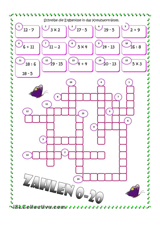 Wortsuchrätsel Zum Ausdrucken Frisch Zahlen Kreuzworträtsel Mathe Pinterest Stock